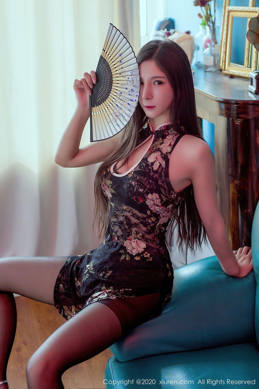 [XiuRen] Vol.2395 Xiao Man Yao 9P, Cheongsam, Underwear, Xiao Man Yao, Xiuren