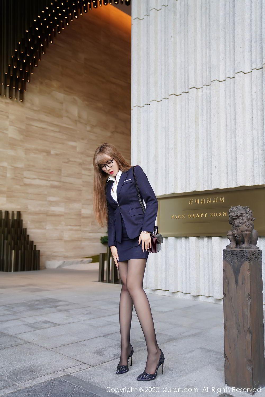 [XiuRen] Vol.2396 Chai Wan Yi 12P, Black Silk, Meng Han Yao, Underwear, Uniform, Xiuren