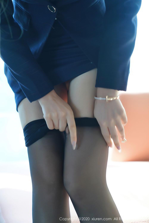 [XiuRen] Vol.2396 Chai Wan Yi 13P, Black Silk, Meng Han Yao, Underwear, Uniform, Xiuren