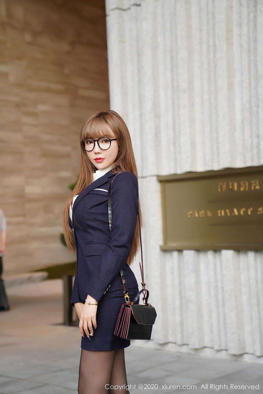 [XiuRen] Vol.2396 Chai Wan Yi 16P, Black Silk, Meng Han Yao, Underwear, Uniform, Xiuren