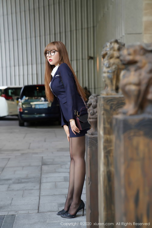 [XiuRen] Vol.2396 Chai Wan Yi 18P, Black Silk, Meng Han Yao, Underwear, Uniform, Xiuren