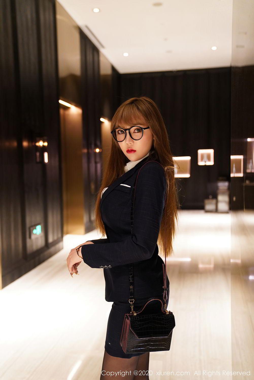 [XiuRen] Vol.2396 Chai Wan Yi 19P, Black Silk, Meng Han Yao, Underwear, Uniform, Xiuren