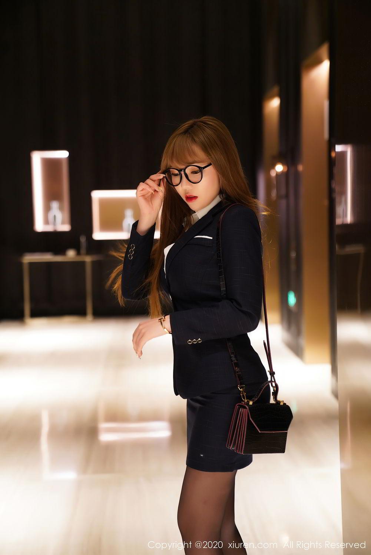 [XiuRen] Vol.2396 Chai Wan Yi 20P, Black Silk, Meng Han Yao, Underwear, Uniform, Xiuren