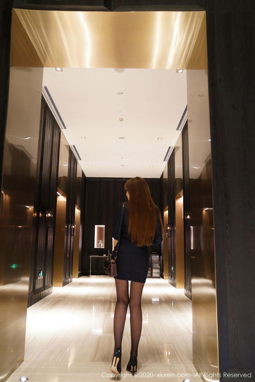 [XiuRen] Vol.2396 Chai Wan Yi 21P, Black Silk, Meng Han Yao, Underwear, Uniform, Xiuren