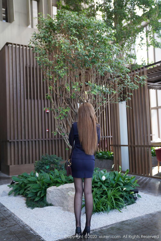 [XiuRen] Vol.2396 Chai Wan Yi 27P, Black Silk, Meng Han Yao, Underwear, Uniform, Xiuren