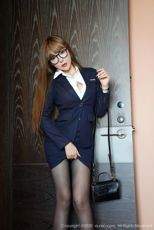 [XiuRen] Vol.2396 Chai Wan Yi 32P, Black Silk, Meng Han Yao, Underwear, Uniform, Xiuren