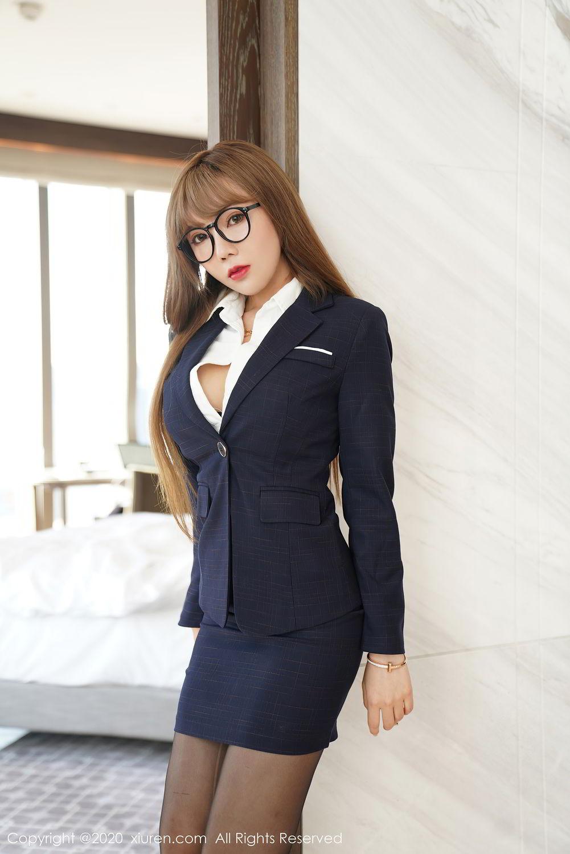[XiuRen] Vol.2396 Chai Wan Yi 35P, Black Silk, Meng Han Yao, Underwear, Uniform, Xiuren
