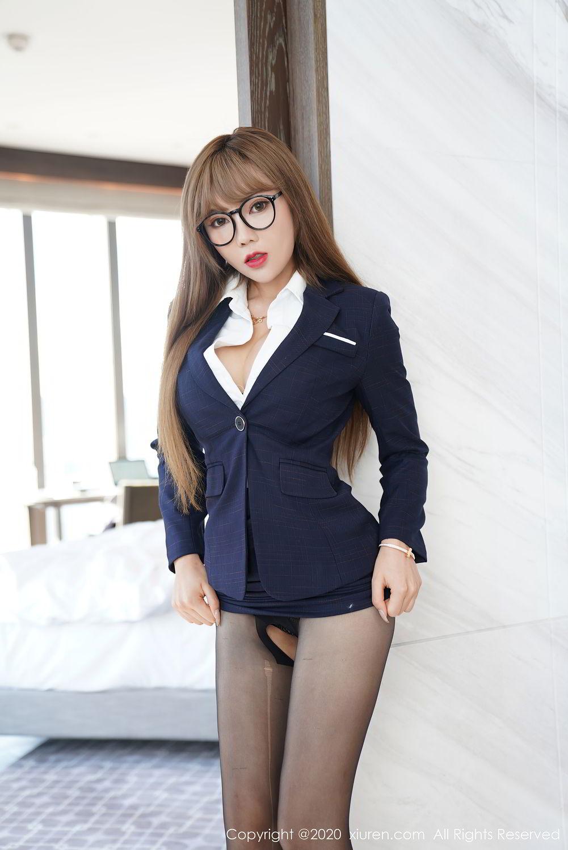 [XiuRen] Vol.2396 Chai Wan Yi 36P, Black Silk, Meng Han Yao, Underwear, Uniform, Xiuren