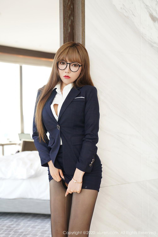 [XiuRen] Vol.2396 Chai Wan Yi 37P, Black Silk, Meng Han Yao, Underwear, Uniform, Xiuren
