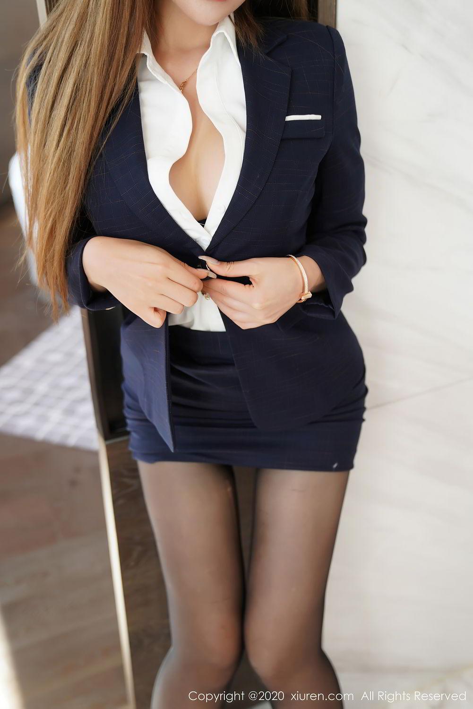 [XiuRen] Vol.2396 Chai Wan Yi 38P, Black Silk, Meng Han Yao, Underwear, Uniform, Xiuren