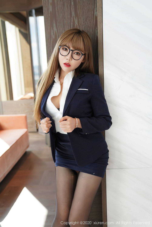 [XiuRen] Vol.2396 Chai Wan Yi 39P, Black Silk, Meng Han Yao, Underwear, Uniform, Xiuren