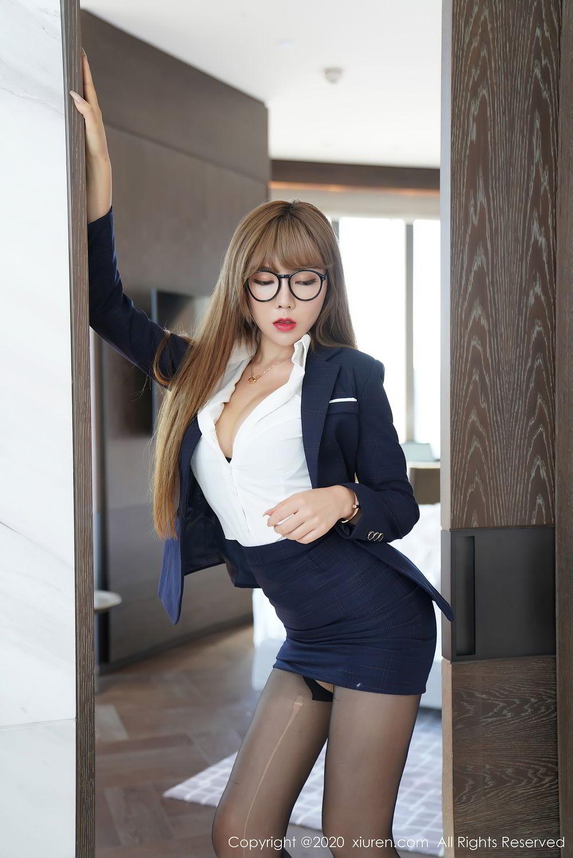 [XiuRen] Vol.2396 Chai Wan Yi 41P, Black Silk, Meng Han Yao, Underwear, Uniform, Xiuren
