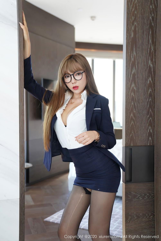 [XiuRen] Vol.2396 Chai Wan Yi 42P, Black Silk, Meng Han Yao, Underwear, Uniform, Xiuren