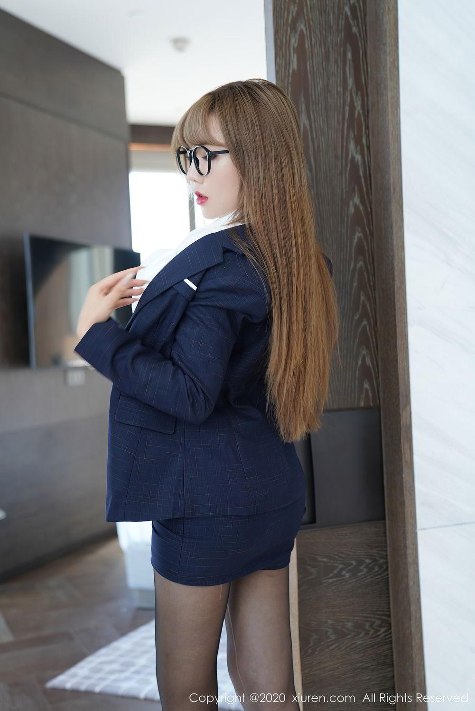 [XiuRen] Vol.2396 Chai Wan Yi 47P, Black Silk, Meng Han Yao, Underwear, Uniform, Xiuren