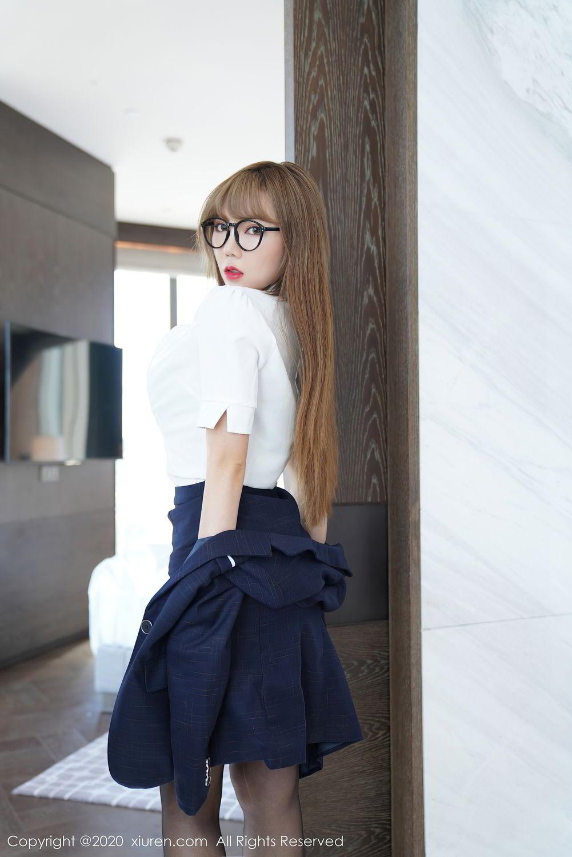 [XiuRen] Vol.2396 Chai Wan Yi 48P, Black Silk, Meng Han Yao, Underwear, Uniform, Xiuren