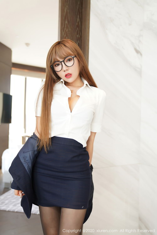 [XiuRen] Vol.2396 Chai Wan Yi 51P, Black Silk, Meng Han Yao, Underwear, Uniform, Xiuren