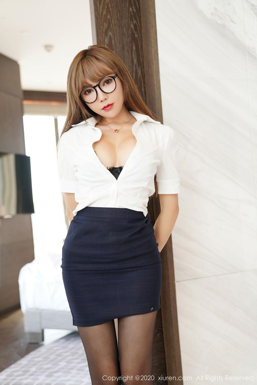 [XiuRen] Vol.2396 Chai Wan Yi 53P, Black Silk, Meng Han Yao, Underwear, Uniform, Xiuren