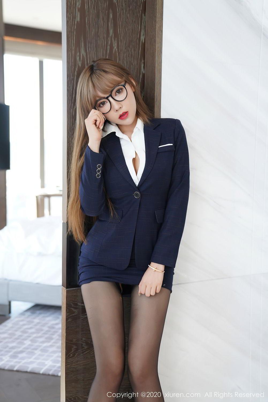 [XiuRen] Vol.2396 Chai Wan Yi 56P, Black Silk, Meng Han Yao, Underwear, Uniform, Xiuren