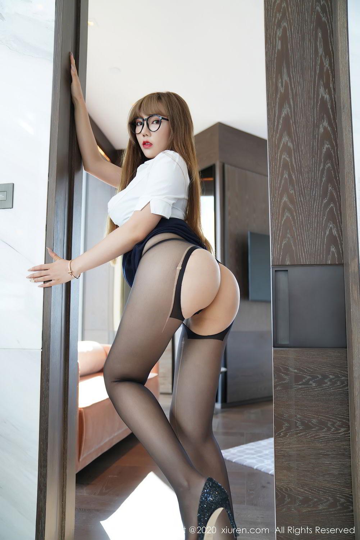 [XiuRen] Vol.2396 Chai Wan Yi 57P, Black Silk, Meng Han Yao, Underwear, Uniform, Xiuren