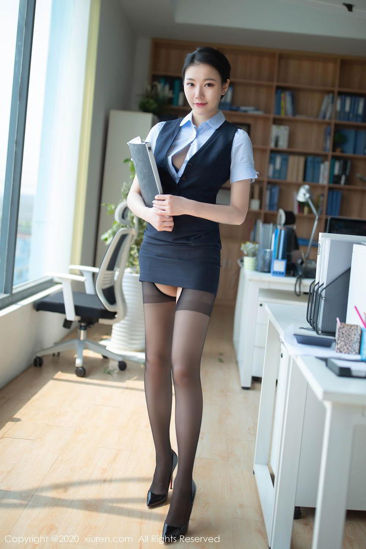 [XiuRen] Vol.2398 An Ran Maleah 20P, An Ran Maleah, Black Silk, Tall, Uniform, Xiuren