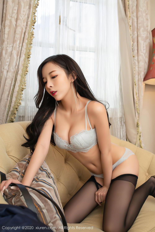[XiuRen] Vol.2401 Chen Xiao Miao 15P, Black Silk, Chen Xiao Miao, Underwear, Uniform, Xiuren