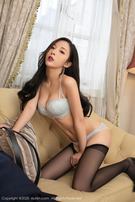 [XiuRen] Vol.2401 Chen Xiao Miao 16P, Black Silk, Chen Xiao Miao, Underwear, Uniform, Xiuren