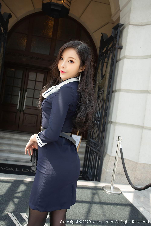 [XiuRen] Vol.2401 Chen Xiao Miao 1P, Black Silk, Chen Xiao Miao, Underwear, Uniform, Xiuren