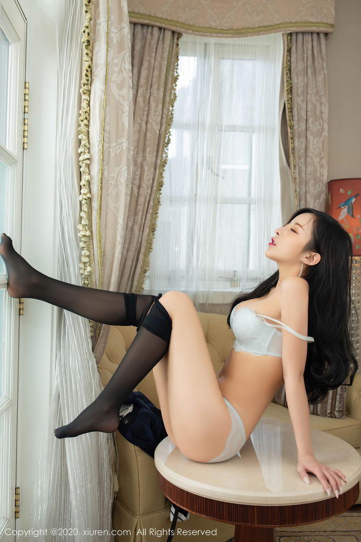 [XiuRen] Vol.2401 Chen Xiao Miao 24P, Black Silk, Chen Xiao Miao, Underwear, Uniform, Xiuren