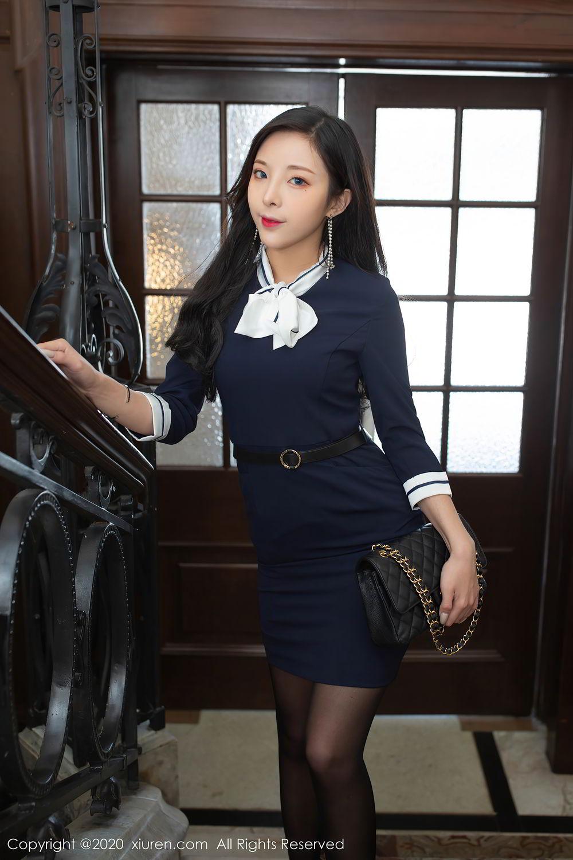 [XiuRen] Vol.2401 Chen Xiao Miao 3P, Black Silk, Chen Xiao Miao, Underwear, Uniform, Xiuren