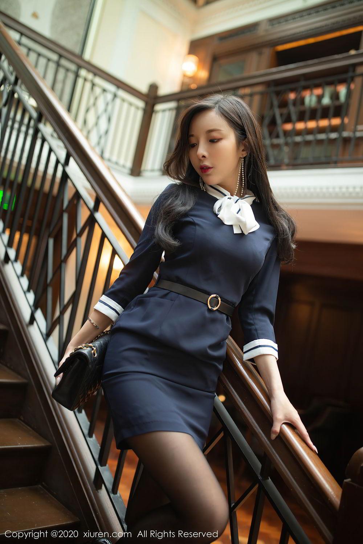 [XiuRen] Vol.2401 Chen Xiao Miao 41P, Black Silk, Chen Xiao Miao, Underwear, Uniform, Xiuren