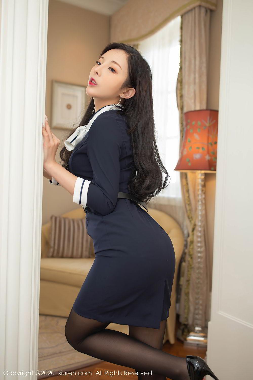[XiuRen] Vol.2401 Chen Xiao Miao 42P, Black Silk, Chen Xiao Miao, Underwear, Uniform, Xiuren