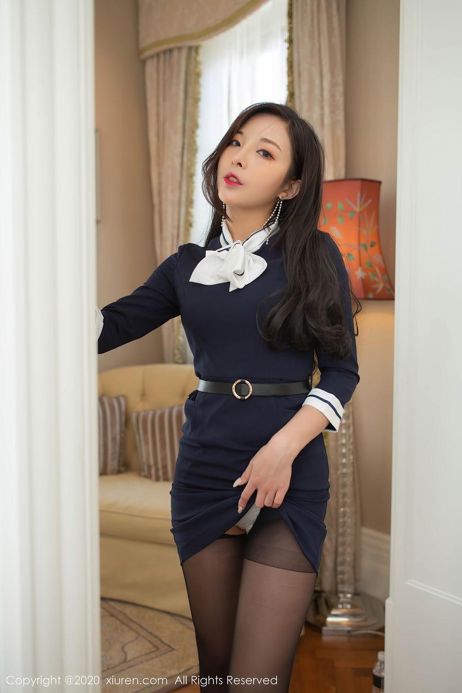 [XiuRen] Vol.2401 Chen Xiao Miao 43P, Black Silk, Chen Xiao Miao, Underwear, Uniform, Xiuren