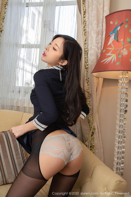[XiuRen] Vol.2401 Chen Xiao Miao 46P, Black Silk, Chen Xiao Miao, Underwear, Uniform, Xiuren