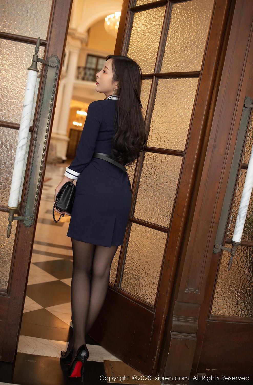 [XiuRen] Vol.2401 Chen Xiao Miao 4P, Black Silk, Chen Xiao Miao, Underwear, Uniform, Xiuren