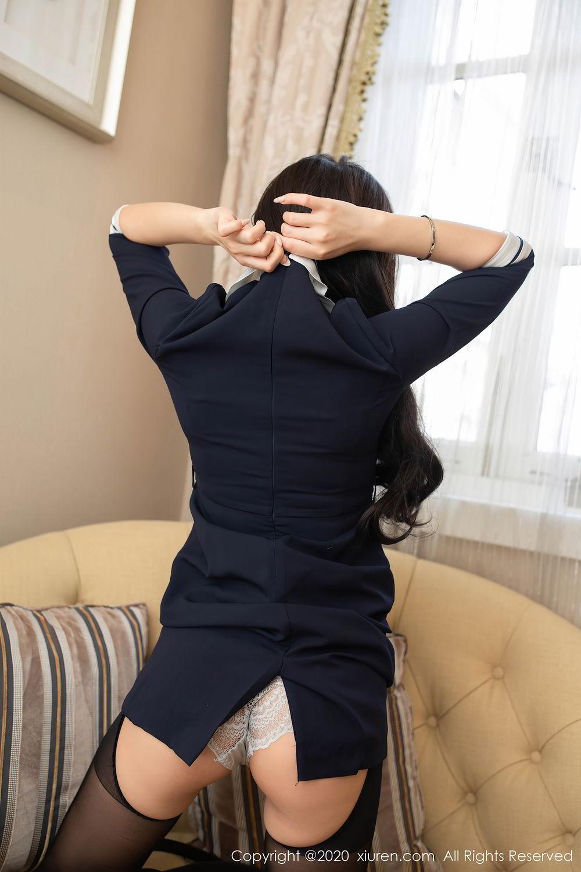[XiuRen] Vol.2401 Chen Xiao Miao 58P, Black Silk, Chen Xiao Miao, Underwear, Uniform, Xiuren
