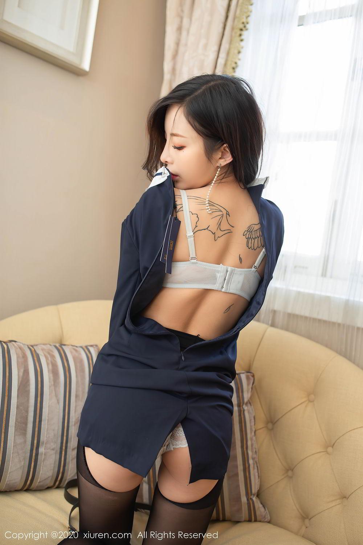 [XiuRen] Vol.2401 Chen Xiao Miao 60P, Black Silk, Chen Xiao Miao, Underwear, Uniform, Xiuren