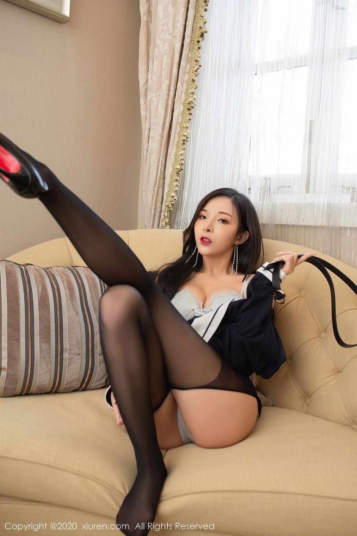 [XiuRen] Vol.2401 Chen Xiao Miao 77P, Black Silk, Chen Xiao Miao, Underwear, Uniform, Xiuren