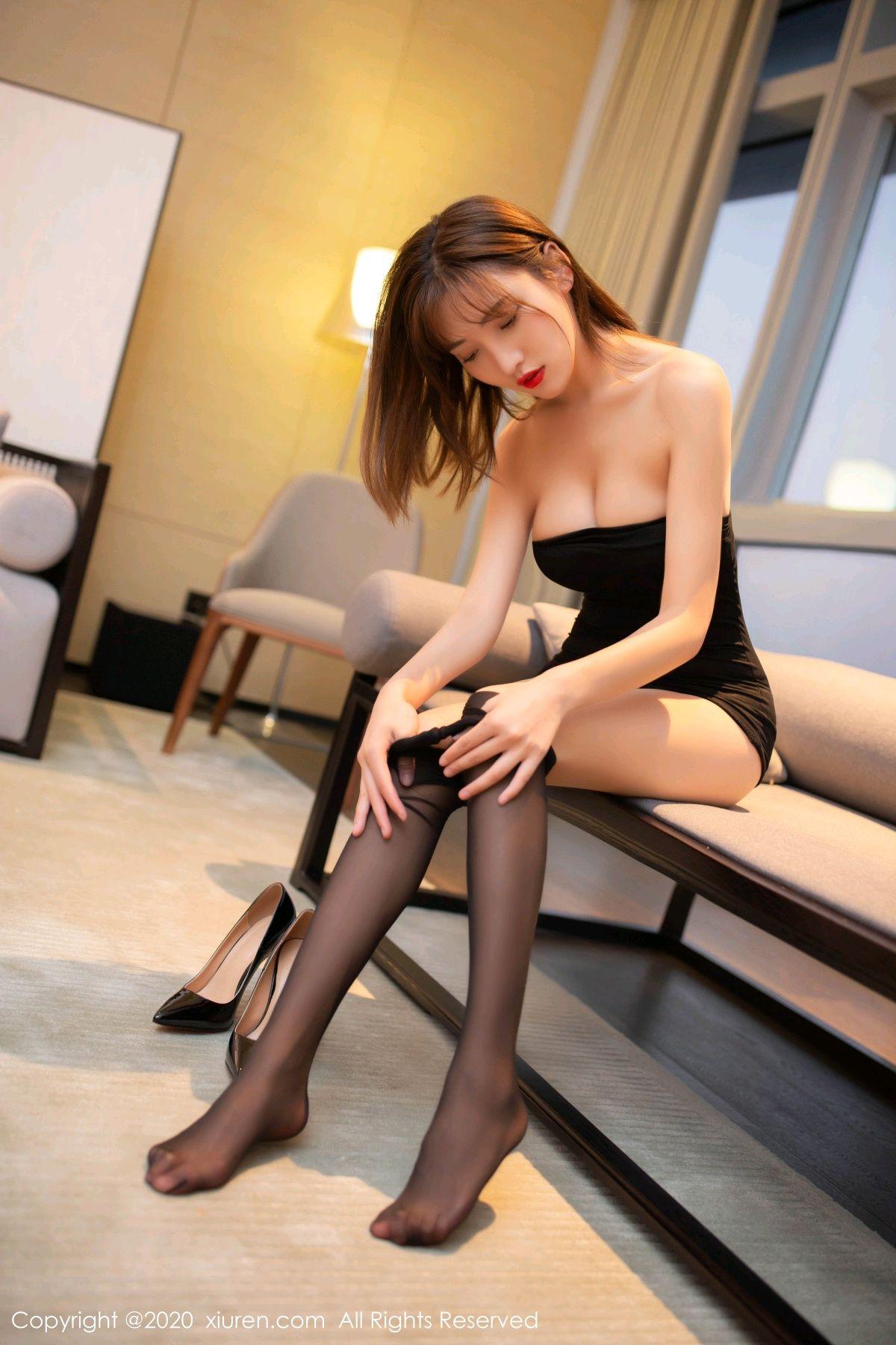 [XiuRen] Vol.2410 Lu Xuan Xuan 53P, Black Silk, Lu Xuan Xuan, Tall, Xiuren