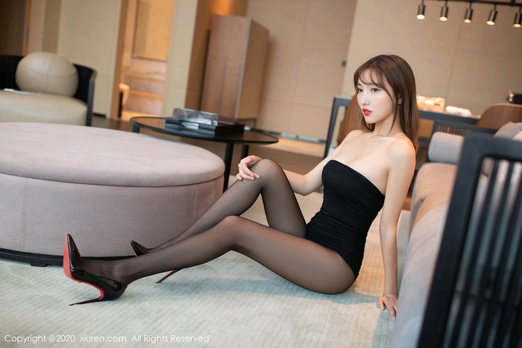 [XiuRen] Vol.2410 Lu Xuan Xuan 8P, Black Silk, Lu Xuan Xuan, Tall, Xiuren