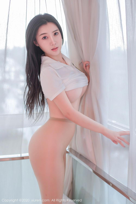 [XiuRen] Vol.2412 Chen Meng Babe 10P, Chen Meng, School Uniform, Tall, Xiuren