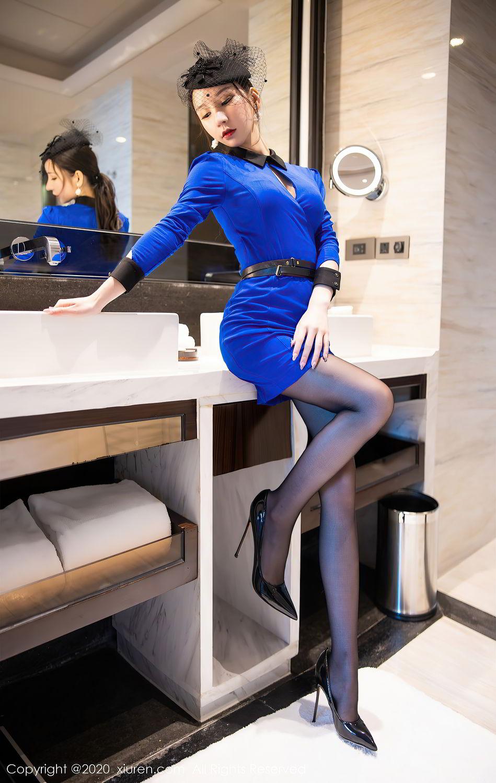 [XiuRen] Vol.2415 Zhou Yu Xi 11P, Black Silk, Underwear, Uniform, Xiuren, Zhou Yu Xi