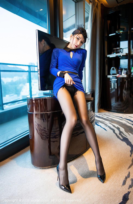 [XiuRen] Vol.2415 Zhou Yu Xi 14P, Black Silk, Underwear, Uniform, Xiuren, Zhou Yu Xi