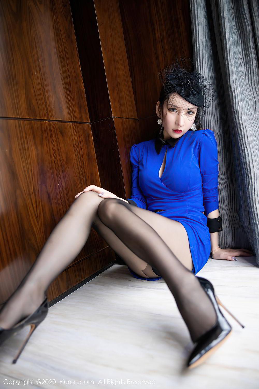 [XiuRen] Vol.2415 Zhou Yu Xi 20P, Black Silk, Underwear, Uniform, Xiuren, Zhou Yu Xi