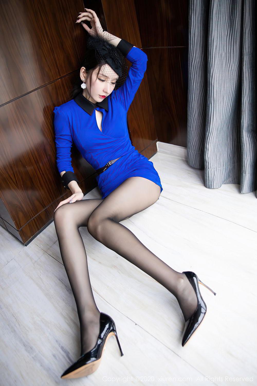 [XiuRen] Vol.2415 Zhou Yu Xi 21P, Black Silk, Underwear, Uniform, Xiuren, Zhou Yu Xi
