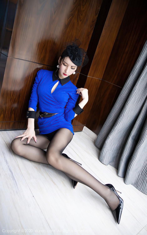 [XiuRen] Vol.2415 Zhou Yu Xi 22P, Black Silk, Underwear, Uniform, Xiuren, Zhou Yu Xi
