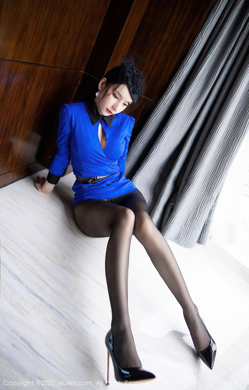 [XiuRen] Vol.2415 Zhou Yu Xi 26P, Black Silk, Underwear, Uniform, Xiuren, Zhou Yu Xi
