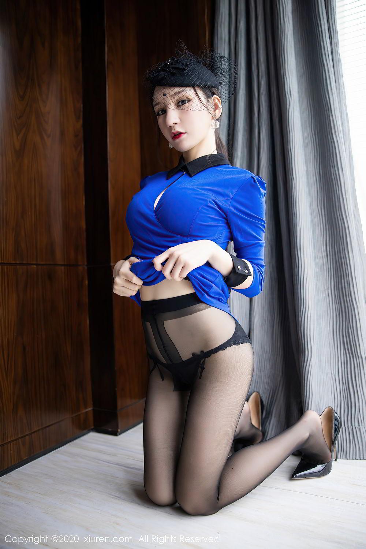[XiuRen] Vol.2415 Zhou Yu Xi 29P, Black Silk, Underwear, Uniform, Xiuren, Zhou Yu Xi