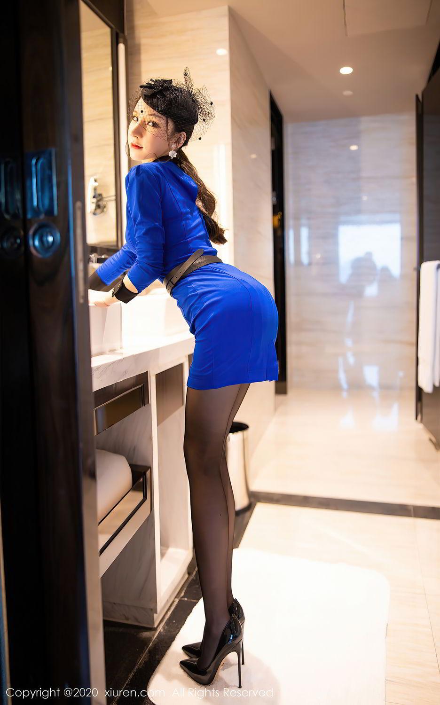 [XiuRen] Vol.2415 Zhou Yu Xi 2P, Black Silk, Underwear, Uniform, Xiuren, Zhou Yu Xi