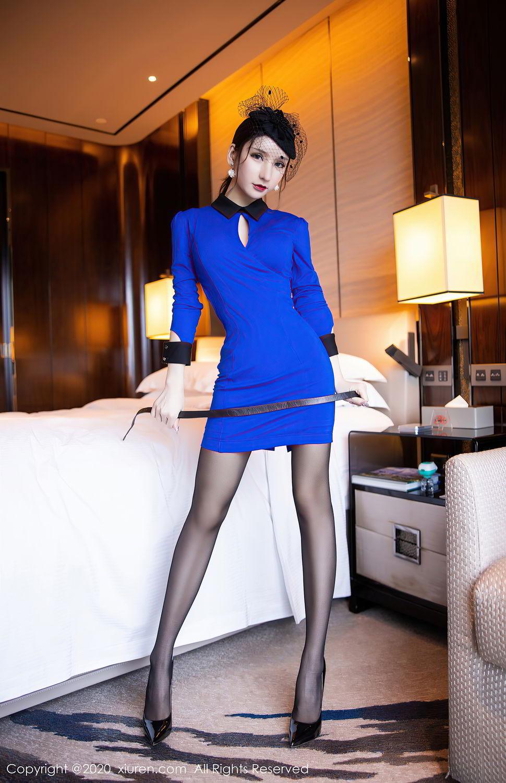 [XiuRen] Vol.2415 Zhou Yu Xi 34P, Black Silk, Underwear, Uniform, Xiuren, Zhou Yu Xi