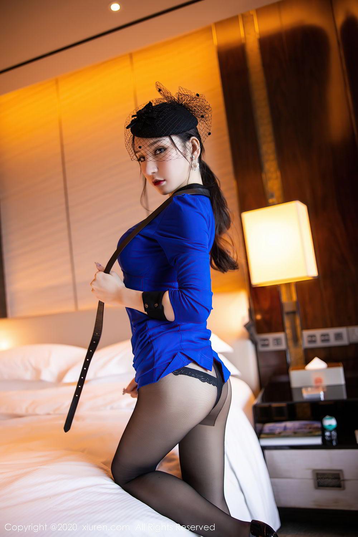 [XiuRen] Vol.2415 Zhou Yu Xi 36P, Black Silk, Underwear, Uniform, Xiuren, Zhou Yu Xi